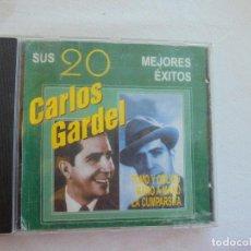 CDs de Música: CARLOS GARDEL . SU 20 MEJORES EXITOS -1998. Lote 186270611