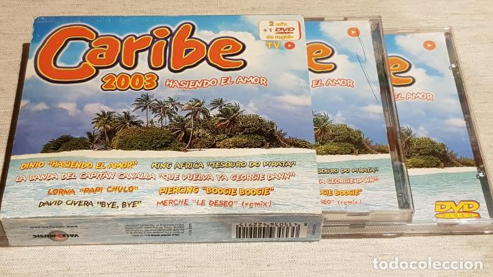 CARIBE 2003 / HASIENDO EL AMOR / DOBLE CD + DVD / VARIOS ARTISTAS / TOTAL 58 TEMAS / DE LUJO. (Música - CD's Disco y Dance)