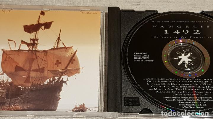 CDs de Música: B.S.O. / 1492 - CONQUEST OF PARADISE / VANGELIS / CD - WARNWE MUSIC / 12 TEMAS / DE LUJO. - Foto 2 - 186337945