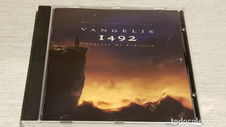 B.S.O. / 1492 - CONQUEST OF PARADISE / VANGELIS / CD - WARNWE MUSIC / 12 TEMAS / DE LUJO. (Música - CD's Bandas Sonoras)