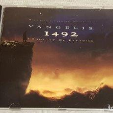 CDs de Música: B.S.O. / 1492 - CONQUEST OF PARADISE / VANGELIS / CD - WARNWE MUSIC / 12 TEMAS / DE LUJO.. Lote 186337945