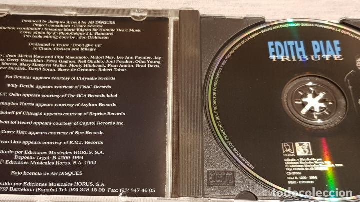 CDs de Música: EDITH PIAF / TRIBUTE / VARIOS ARTISTAS / CD - HORUS / 13 TEMAS / CALIDAD LUJO. - Foto 2 - 186338457