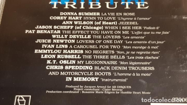 CDs de Música: EDITH PIAF / TRIBUTE / VARIOS ARTISTAS / CD - HORUS / 13 TEMAS / CALIDAD LUJO. - Foto 4 - 186338457