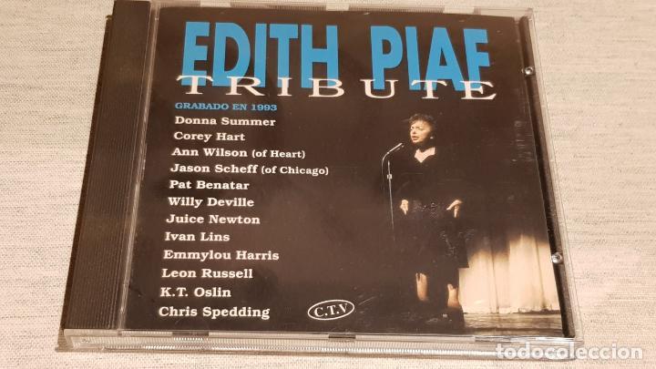 EDITH PIAF / TRIBUTE / VARIOS ARTISTAS / CD - HORUS / 13 TEMAS / CALIDAD LUJO. (Música - CD's Melódica )