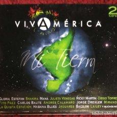 CDs de Música: VIVA AMERICA - 2 CD'S 2007 (SHAKIRA, MANA, RICKY MARTIN, CALAMARO, JAGUARES, FITO PAEZ, LA LEY...). Lote 186433586