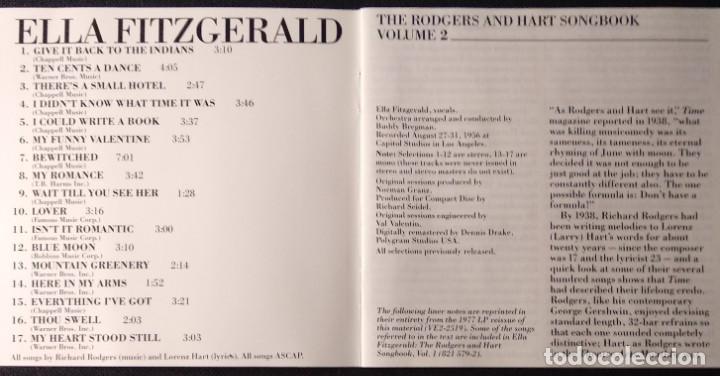 CDs de Música: CD 1985 USA Polygram Records ELLA FITZGERALD - Foto 6 - 186551746