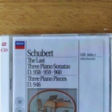 CDs de Música: SCHUBERT - ALFRED BRENDEL: LAS ÚLTIMAS TRES SONATAS PARA PIANO (2 CDS). Lote 186721907