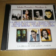 CDs de Música: LA OREJA DE VAN GOGH, JOSE ALFONSO LORCA, AZUCAR MORENO, ENTREVISTAS, SALUDOS NAVIDEÑOS CD ALBUM. Lote 296571713