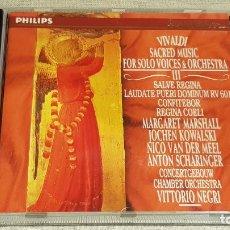 CDs de Música: VIVALDI / SACRED MUSIC FOR SOLO VOICES & ORCHESTRA I / CD - PHILIPS / CALIDAD LUJO.. Lote 187108757