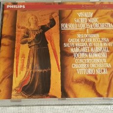 CDs de Música: VIVALDI / SACRED MUSIC FOR SOLO VOICES & ORCHESTRA III / CD - PHILIPS / CALIDAD LUJO.. Lote 187108916
