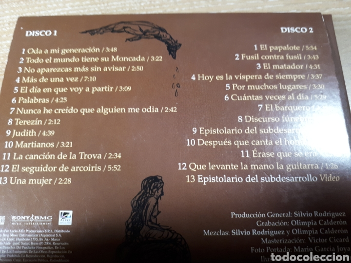 CDs de Música: SILVIO RODRIGUEZ ERASE QUE SE ERA DOBLE CD - Foto 2 - 187128205