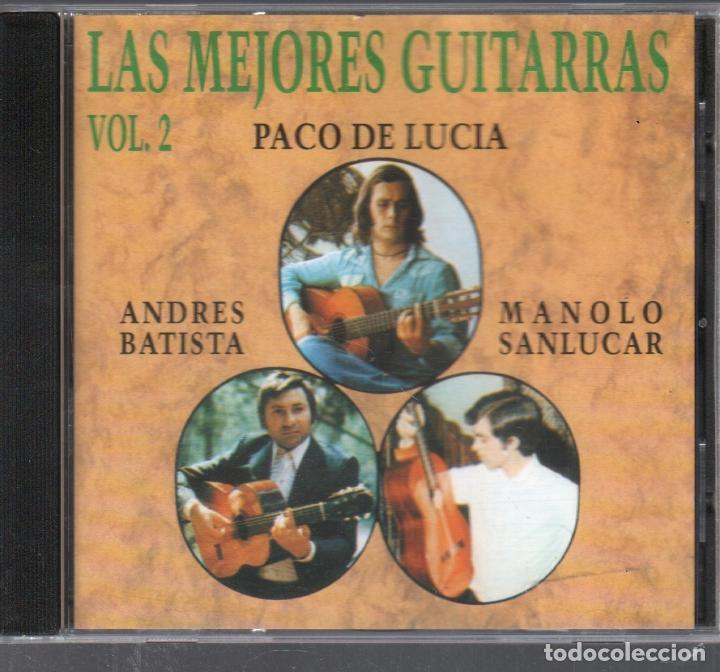 LAS MEJORES GUITARRAS VOL. 2 - PACO DE LUCIA, ANDRES BATISTA, MANOLO SANLUCAR / CD DE 1994 RF 3488 (Música - CD's Flamenco, Canción española y Cuplé)