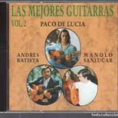 CDs de Música: LAS MEJORES GUITARRAS VOL. 2 - PACO DE LUCIA, ANDRES BATISTA, MANOLO SANLUCAR / CD DE 1994 RF 3488. Lote 187146415