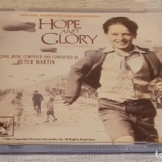 CDs de Música: B.S.O. / HOPE AND GLORY / PETER MARTIN / CD - COLUMBIA-1987 / 19 TEMAS / LUJO / MUY DIFÍCIL.. Lote 187168147