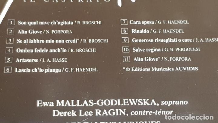CDs de Música: B.S.O. / FARINELLI IL CASTRATO / CHRISTOPHE ROUSSET / CD - AUDIVIS-1994 / 11 TEMAS / DE LUJO. - Foto 4 - 187170005