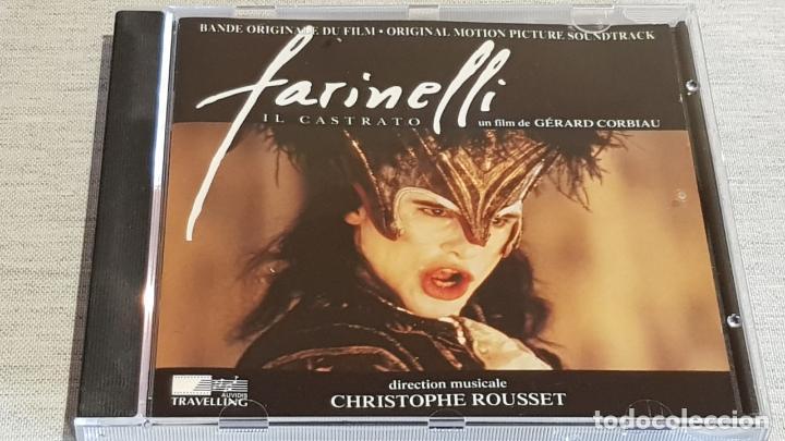 B.S.O. / FARINELLI IL CASTRATO / CHRISTOPHE ROUSSET / CD - AUDIVIS-1994 / 11 TEMAS / DE LUJO. (Música - CD's Bandas Sonoras)