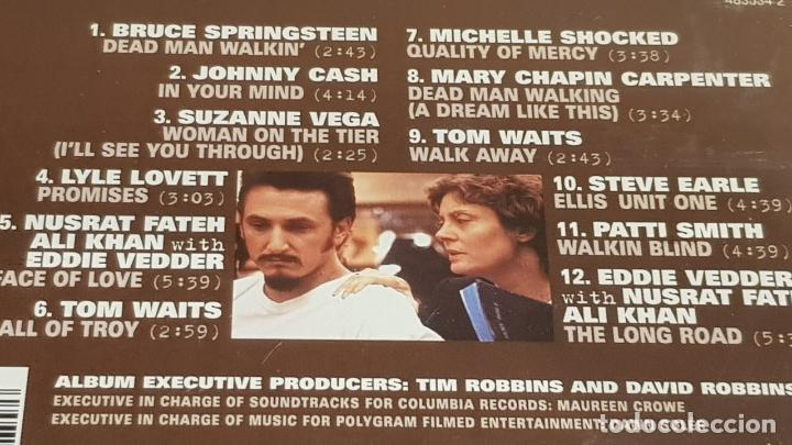 CDs de Música: B.S.O. / DEAD MAN WALKING / VARIOS ARTISTAS / CD - CBS-SONY / 12 TEMAS / CALIDAD LUJO. - Foto 4 - 187173275