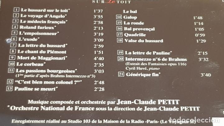 CDs de Música: B.S.O. / LE HUSSARD SUR LE TOIT / JEAN-CLAUDE PETIT / CD - AUDIVIS / 21 TEMAS / DE LUJO. - Foto 4 - 187203168