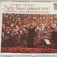 CDs de Música: WIENER PHILHARMONIKER / ZUBIN MEHTA / NEW YEAR'S CONCERT 1990 / CD - SONY CLASSICAL / DE LUJO.. Lote 187207835