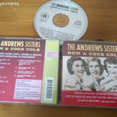 CDs de Música: CD CD THE ANDREWS SISTERS RUM & COCA COLA . Lote 187372893