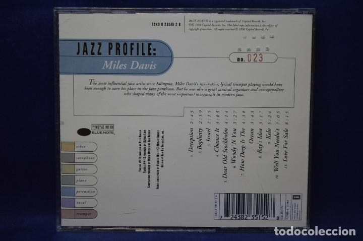 CDs de Música: MILES DAVIS - JAZZ PROFILE: MILES DAVIS - CD - Foto 2 - 187427363