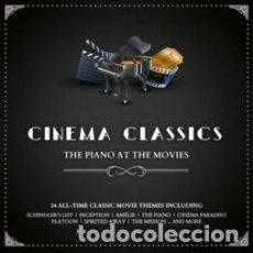 CDs de Música: CINEMA CLASSICS. THE PIANO AT THE MOVIES, JOHN WILLIAMS, ENNIO MORRICONE. Lote 187440448