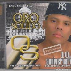 CDs de Música: ORO SÓLIDO CD RAÚL ACOSTA CERTIFIED MERENGUE (PRECINTADO). Lote 187444053