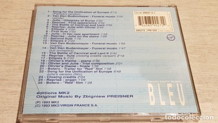 CDs de Música: B.S.O. / BLEU ( TROIS COULEURS ) / ZBIGNIEW PREISNER / CD - VIRGIN-FRANCE / 25 TEMAS / DE LUJO. - Foto 3 - 187448100