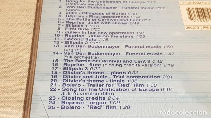 CDs de Música: B.S.O. / BLEU ( TROIS COULEURS ) / ZBIGNIEW PREISNER / CD - VIRGIN-FRANCE / 25 TEMAS / DE LUJO. - Foto 4 - 187448100