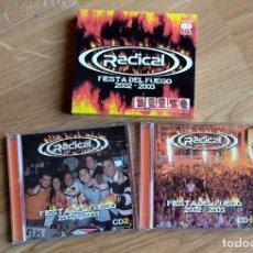 CDs de Música: RADICAL. FIESTA DEL FUEGO 2002 - 2003. 2 CDS. Lote 187453173