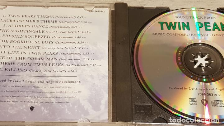 CDs de Música: B.S.O. / TWIN PEAKS / ANGELO BADALAMENTI / CD - WARNER BROS / 11 TEMAS / CALIDAD LUJO. - Foto 2 - 187475642