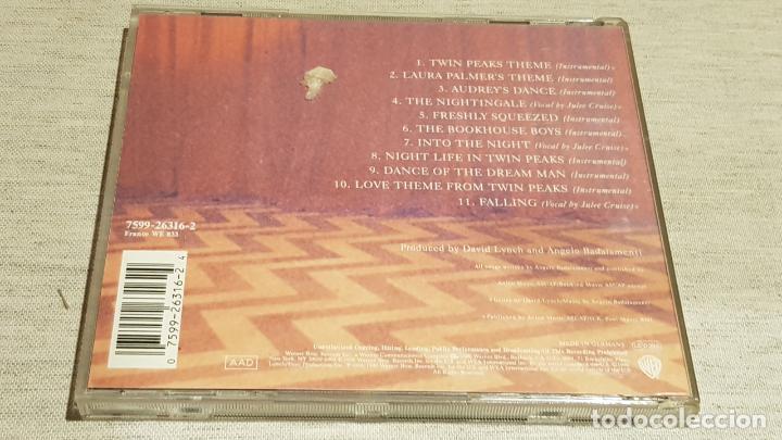 CDs de Música: B.S.O. / TWIN PEAKS / ANGELO BADALAMENTI / CD - WARNER BROS / 11 TEMAS / CALIDAD LUJO. - Foto 3 - 187475642
