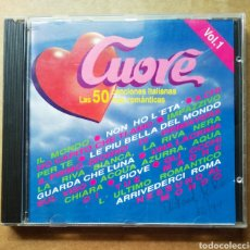 CDs de Música: CD CUORE: LAS 50 CANCIONES ITALIANAS MÁS ROMÁNTICAS VOLUMEN 1 (DIVUCSA, 1992).. Lote 187479090