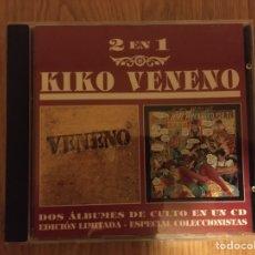 CDs de Música: KIKO VENENO: VENENO + SERÉ MECÁNICO POR TI. Lote 187520635