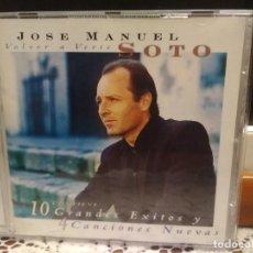 CDs de Música: JOSE MANUEL SOTO VOLVER A VERTE CD ALBUM 10 GRANDES EXITOS + 4 TEMAS NUEVOS AÑO 1998. Lote 187521475
