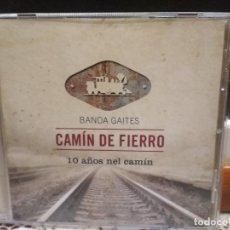 CDs de Musique: BANDA DE GAITES CAMIN DEL FIERRO 10 AÑOS NEL CAMIN CD ALBUM ASTURIAS PEPETO. Lote 187524456
