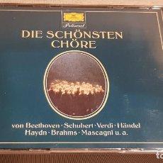 CDs de Música: DIE SCHÖNSTEN CHÖRE / VARIOS ARTISTAS / DOBLE CD-BOX - GRAMMOPHON / CALIDAD LUJO / RARO.. Lote 187586415