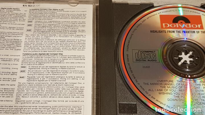 CDs de Música: B.S.O. / THE PHANTOM OF THE OPERA / ANDREW LLOYD / CD - POLYDOR / CALIDAD LUJO. - Foto 2 - 187586828
