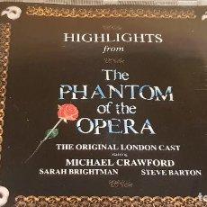 CDs de Música: B.S.O. / THE PHANTOM OF THE OPERA / ANDREW LLOYD / CD - POLYDOR / CALIDAD LUJO.. Lote 187586828