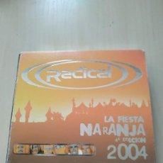 CDs de Música: RADICAL. LA FIESTA DE LA NARANJA 4ª EDICIÓN. 2004 SOLO CD2. FALTA CD1. Lote 187587212