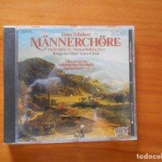 CDs de Música: CD FRANZ SCHUBERT - MANNERCHORE (AZ). Lote 187592323