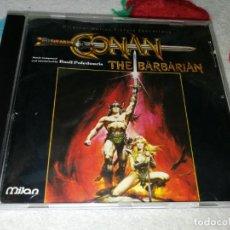 CDs de Música: CONAN EL BARBARO CONAN THE BARBARIAN CD ALBUM BANDA SONORA BASIL POLEDOURIS RARO. Lote 245373695