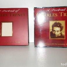 CDs de Música: CHARLES TRÉNET - A PORTRAIT - DOBLE CD GALLERIE GALE417 FRANCIA 1998 NM . Lote 188470987