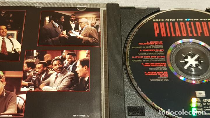 CDs de Música: B.S.O. / PHILADELPHIA / VARIOS ARTISTAS / CD - EPIC / 10 TEMAS / CALIDAD LUJO. - Foto 2 - 188501523