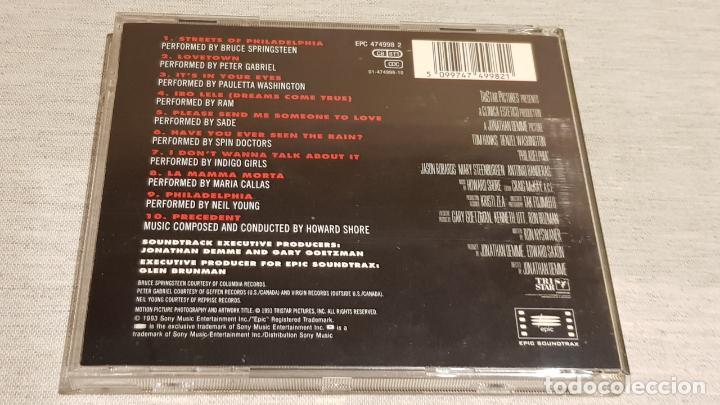 CDs de Música: B.S.O. / PHILADELPHIA / VARIOS ARTISTAS / CD - EPIC / 10 TEMAS / CALIDAD LUJO. - Foto 3 - 188501523