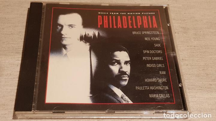 B.S.O. / PHILADELPHIA / VARIOS ARTISTAS / CD - EPIC / 10 TEMAS / CALIDAD LUJO. (Música - CD's Bandas Sonoras)