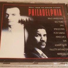 CDs de Música: B.S.O. / PHILADELPHIA / VARIOS ARTISTAS / CD - EPIC / 10 TEMAS / CALIDAD LUJO.. Lote 188501523