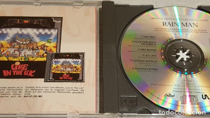 CDs de Música: B.S.O. / RAIN MAN / HANS ZIMMER / CD - CAPITOL / 10 TEMAS / CALIDAD LUJO. - Foto 2 - 188503031