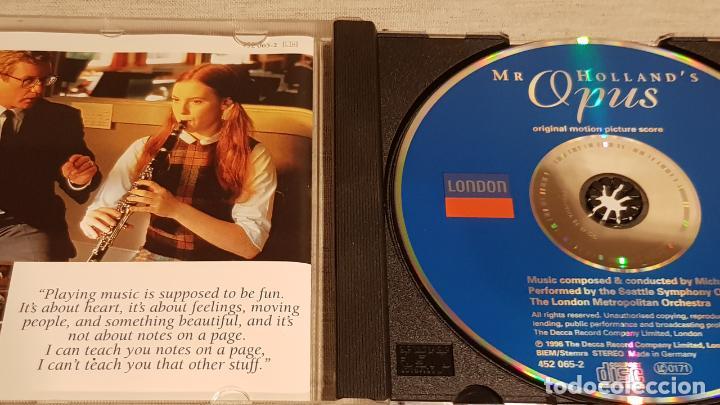 CDs de Música: B.S.O. / MR. HOLLANDS OPUS / MICHAEL KAMEN / CD - LONDON-1996 / 13 TEMAS / DE LUJO. - Foto 2 - 188503616