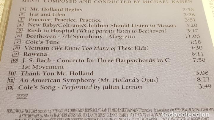 CDs de Música: B.S.O. / MR. HOLLANDS OPUS / MICHAEL KAMEN / CD - LONDON-1996 / 13 TEMAS / DE LUJO. - Foto 4 - 188503616